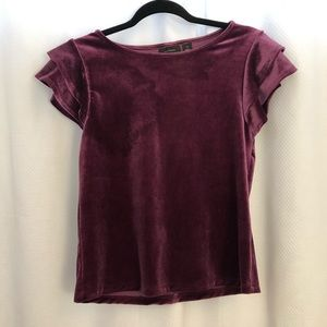Purple Velvet Top